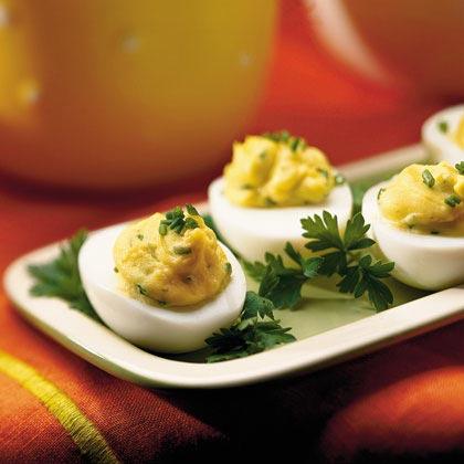 uova con salsa senape