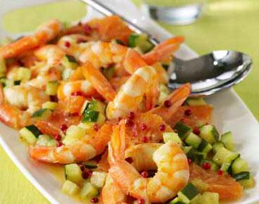zucchine e gamberetti ricetta