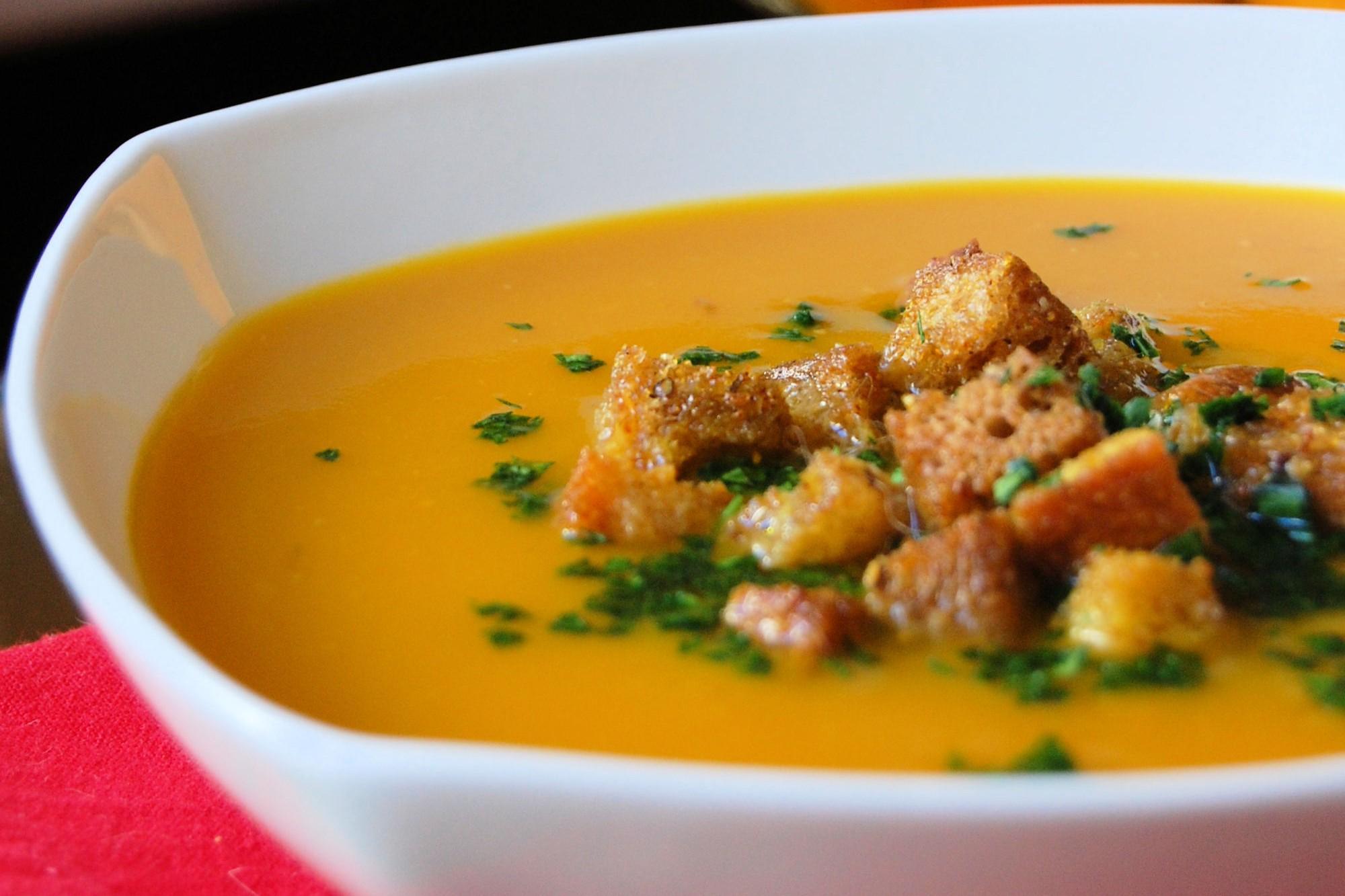 zuppa carote e zucca