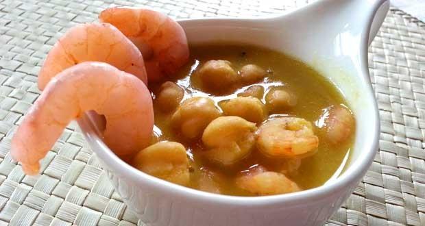 zuppa con gamberetti