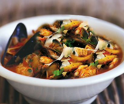 Zuppa di pesce ricca