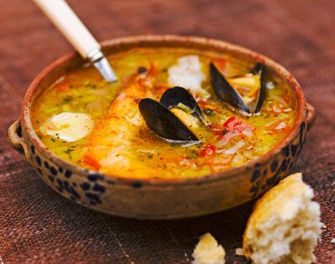 zuppa di pesce.senza spine