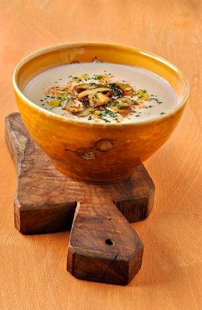Zuppa di funghi profumata al Marsala