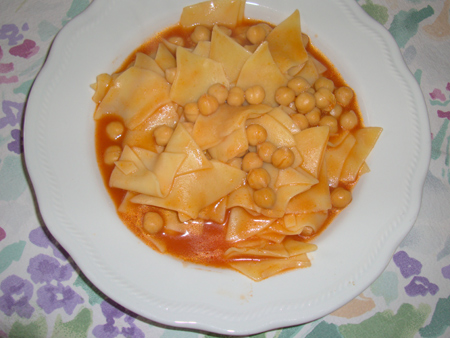 zuppa pasta e ceci