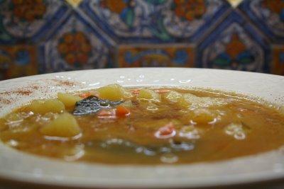 zuppa pesce e patate