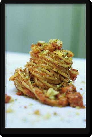 spaghetti baccalà e noci