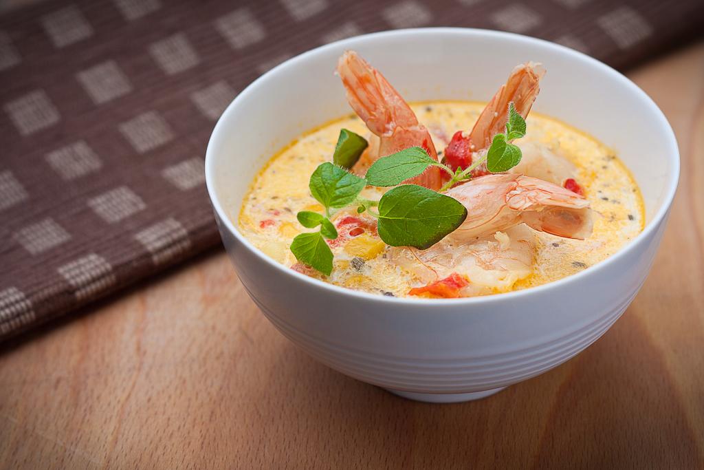 Ricetta Zuppa Thai Con Gamberi.Zuppa Di Gamberi E Latte Di Cocco Pourfemme