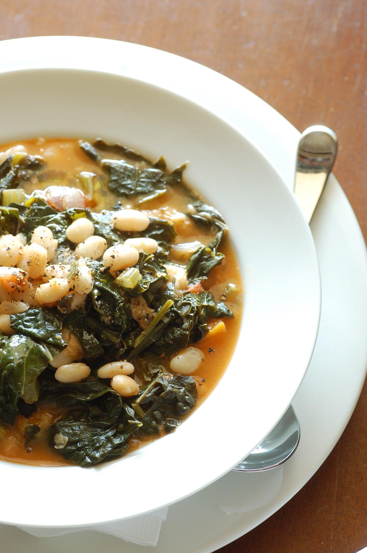 Zuppa di cicoria e fagioli
